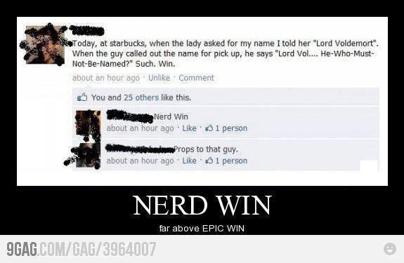 Nerd Win!