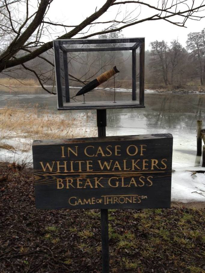 In Case of White Walkers . . .