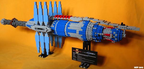 This guy spent over half a year building Babylon 5 out of LEGOs!