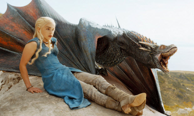 Game of Thrones, Dragons, Emilia Clarke, Danerys Targaryen