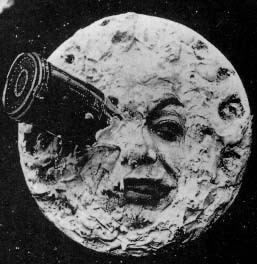 The iconic image of the Man in the Moon from  Georges Méliès  A Trip to the Moon. (1902)