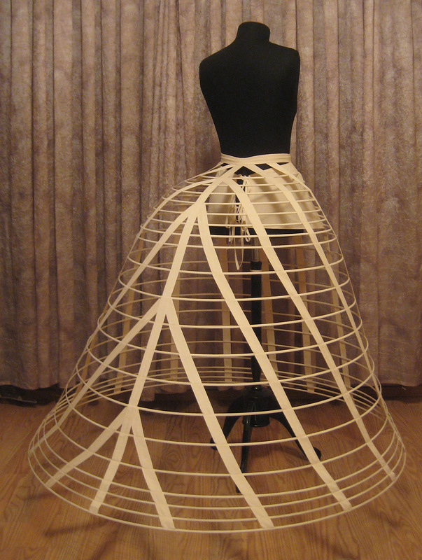 A modern reconstruction  of a crinoline